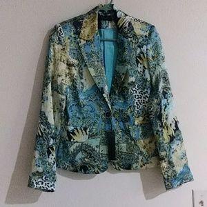 Omnia Blue and green blazer NWT